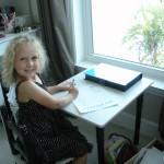 Jillian at her desk