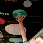 Bunk Bed Planet Mural