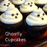 Ghostly Cupcakes - Vegan Chocolate