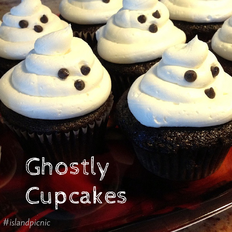 Ghostly Chocolate Cupcakes -- Vegan & Allergy-friendly