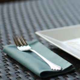 Organic Cotton Napkins - Aqua Blue Twill