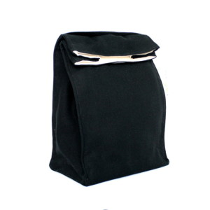 Organic Lunch Bag -- Black2