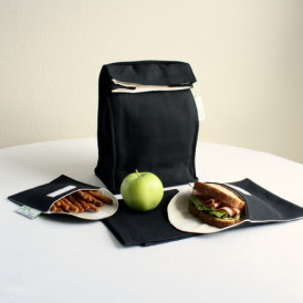 Organic Lunch Bag Set - Black 1