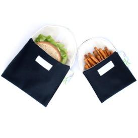 Organic Sandwich Snack Bags - Black 1b