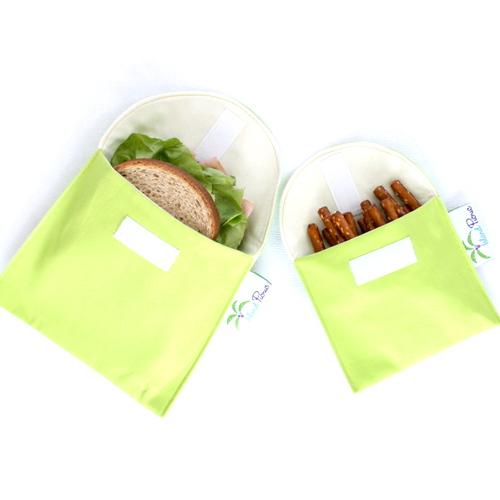 Organic Sandwich Snack Bags - Lime Green 1b