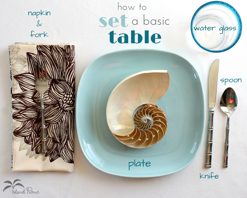 How to Set a Basic Table