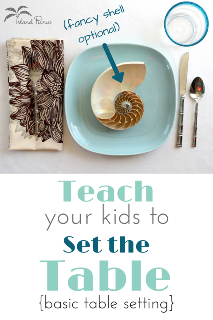 How to Set a Basic Table -- Teach your kids