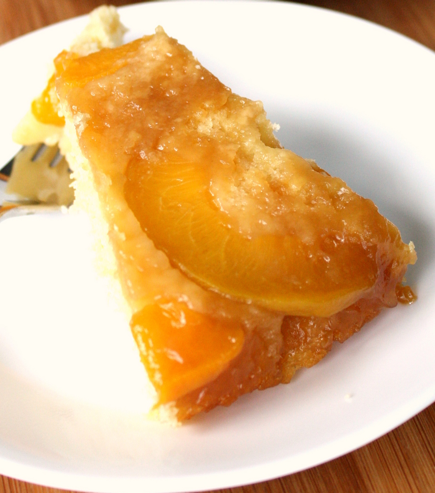 Vegan Peach Upside Down Cake