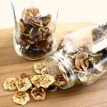 Banana Chips in glass jars