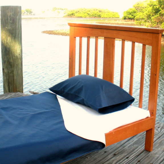 Organic Lightweight Blanket Set - Navy