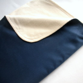 Organic Lightweight Travel Blanket - Navy Blue