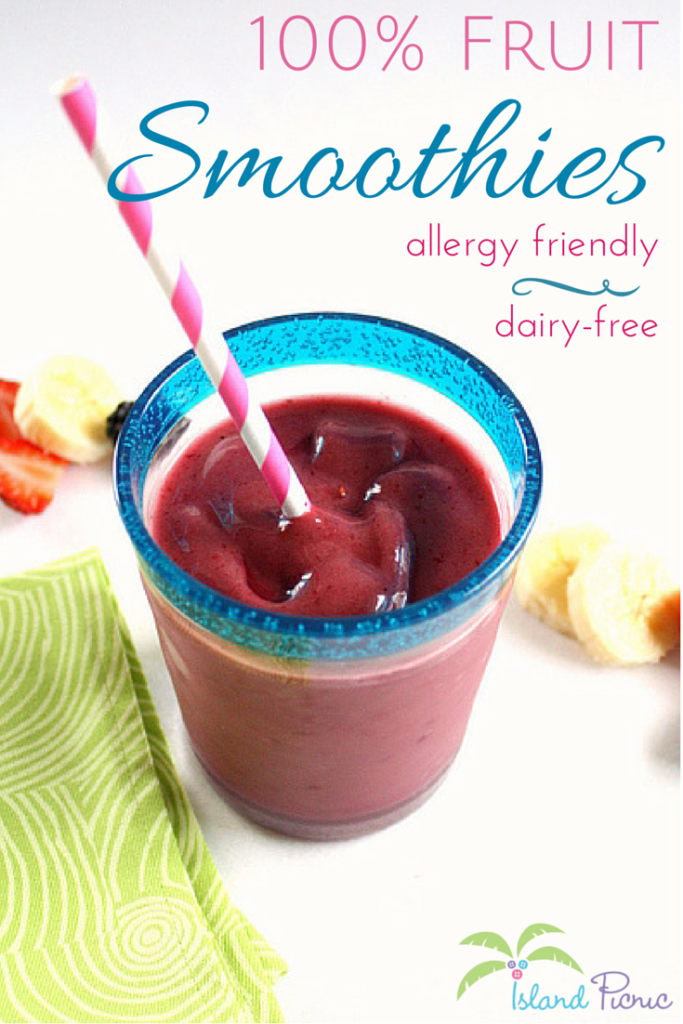 Fruit Smoothies -- Allergy Friendly & Dairy-free
