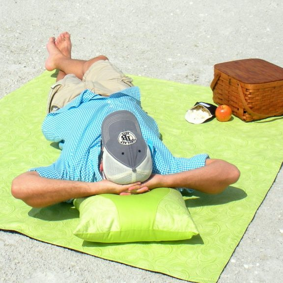 Organic Picnic Blanket - Lime