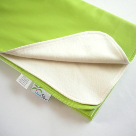 Organic Lightweight Travel Blanket - Lime Green