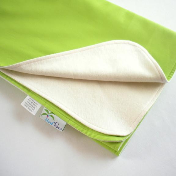 Organic Lightweight Travel Blanket - Lime Green