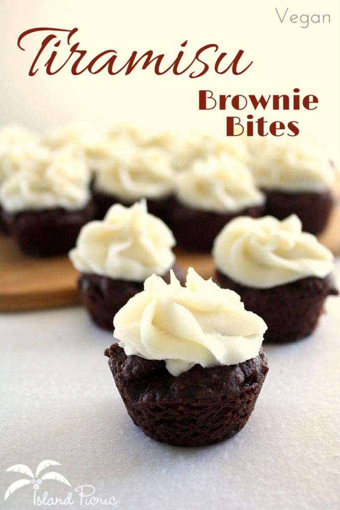 Vegan Tiramisu Brownie Bites -- Delicious & Allergy-friendly