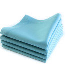 Organic Cotton Napkin in Aqua Blue, Set of Four