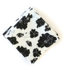 Organic Cotton Napkins in Black and White Graceland, Set of Four