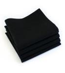 Organic Cotton Napkins in Black, Set of Four