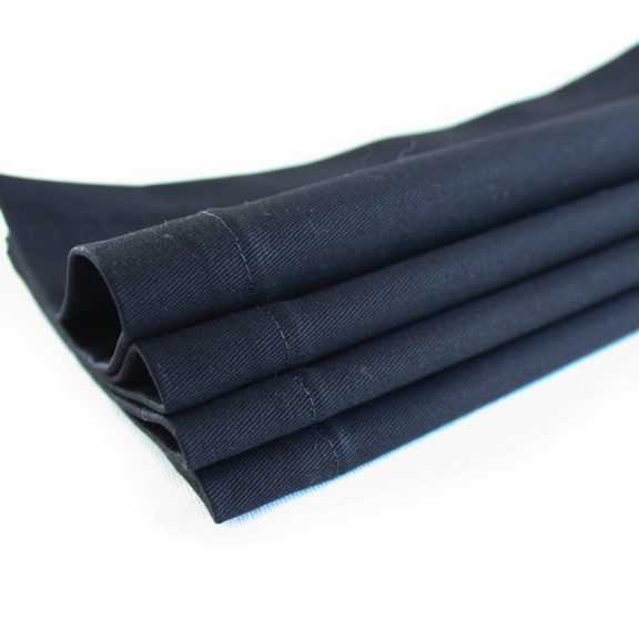 Organic Cotton Napkins in Black, Set of Four