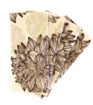 Organic Cotton Napkins in Evelyn & Janette Brown Flowers, Set of Four