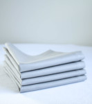 Organic Cotton Napkins in Light Gray, Set of Four