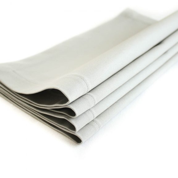 Organic Cotton Napkins in Light Gray, Set of Four
