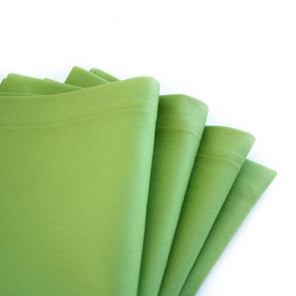 Organic Cotton Napkins in Avocado Green, Set of Four