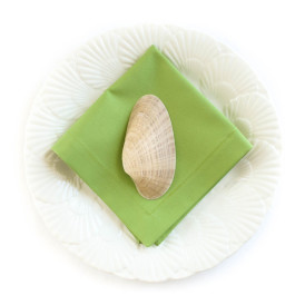 Organic Cotton Napkins in Avocado Green, Set of Four