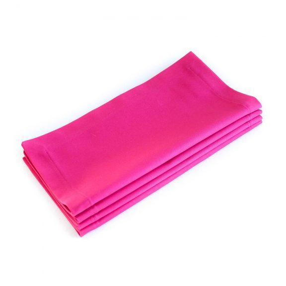 Organic Cotton Napkins -- Hot Pink, Set of Four