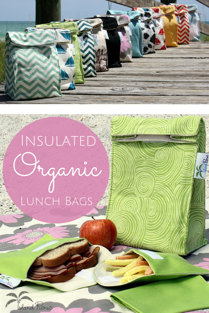 Insulated Organic Lunch Bags by Island Picnic