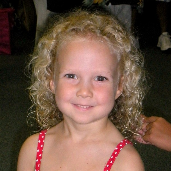 J age 5 with curly curls