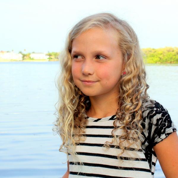 J age 9 curls
