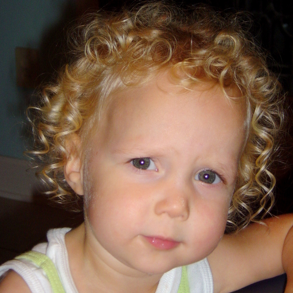 J's curls at age 2