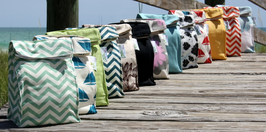 Organic Insulated Lunch Bags -- purely organic cotton