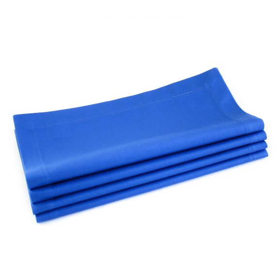 Organic Cotton Napkins in Marine Blue -- Set of Four