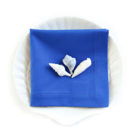Organic Cotton Napkins in Marine Blue -- Set of Four