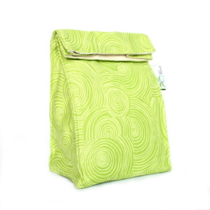 Organic Lunch Bag - Lime Swirl2