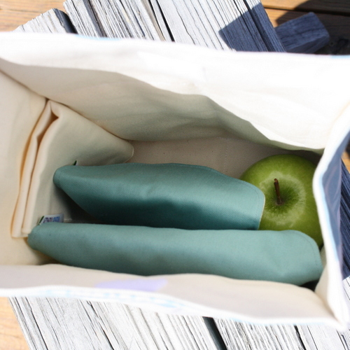Organic Lunch Bag - inside