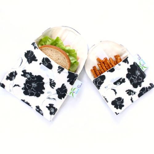 Organic Sandwich Snack Bags - Black White Graceland 1