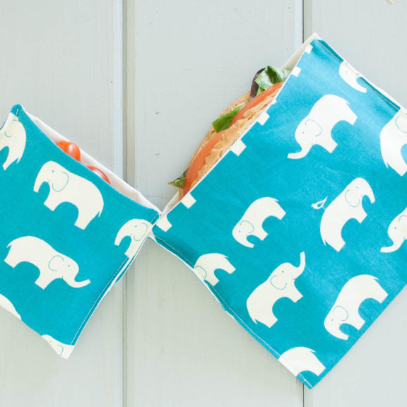 OrganicSandwichSnackBagsBlueElephants