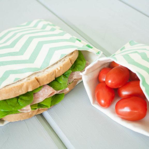 OrganicSandwichSnackBagsGreenChevron