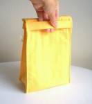 Organic Cotton Lunch Bag -- Yellow