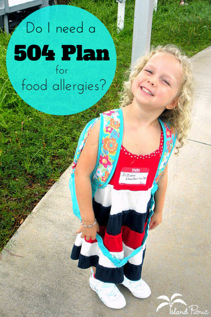 Do I need a 504 plan for food allergies