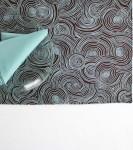Organic Cotton Placemat -- Brown Aqua Swirl/Aqua Blue Reversible