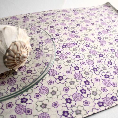 Organic Cotton Placemat -- Purple Floral 3