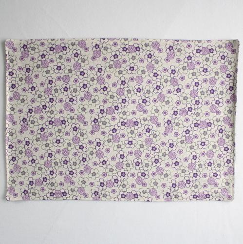 Organic Cotton Placemat -- Purple Floral 5