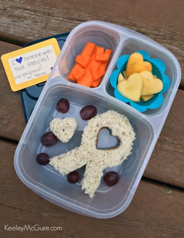 Food Allergy Awareness Ribbon Lunch Food EasyLunchboxes TealTakeover