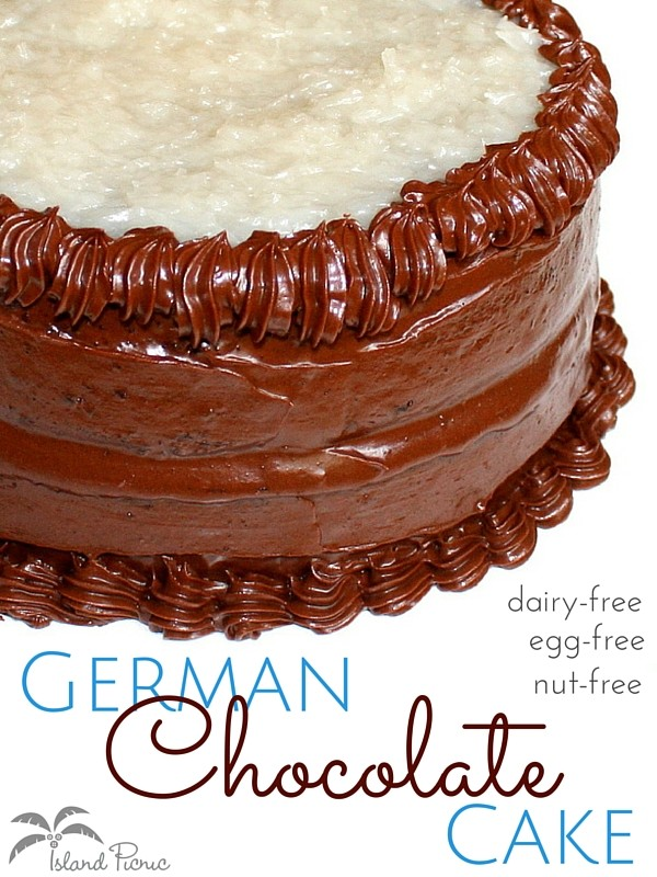 Non Dairy German Chocolate Cake