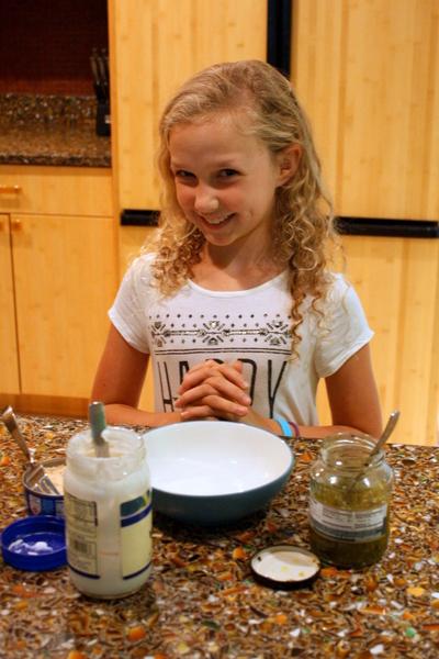 Jillian starting the tuna salad